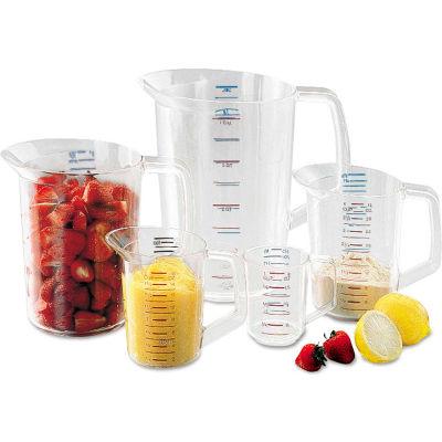 Rubbermaid Commercial Fg321000 Clr Bouncer® Measuring Cups - 1 Cup - Pkg Qty 12