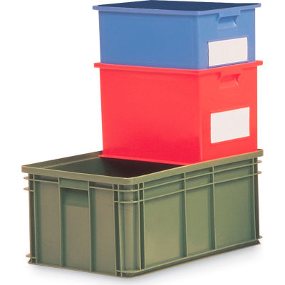 "Schaefer Stacking Transport Container 14/6-3 PL - 12-5/16""L x 8-5/16""W x 5-13/16""H - Blue - Pkg Qty 20"