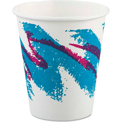 SOLO® Jazz Hot Paper Cups, 6 Oz., Polycoated, Jazz Design, 50/Bag