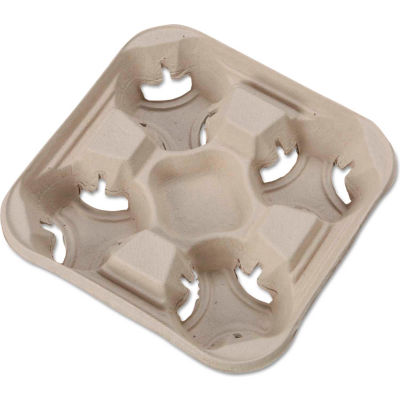 Huhtamaki HUH FLIGHT - Disposable Cup Holder Tray, 8 to 32 Oz. Cups, 300 Qty.