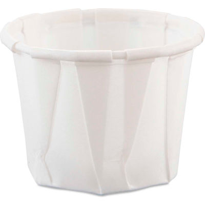Dart® SCC075, Heavy Duty Pleated Souffle Cups, White, 5,000/Case