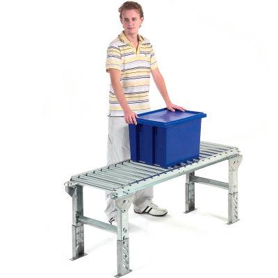 "Omni Metalcraft 1-3/8"" Dia. Aluminum Roller Conveyor Straight Section RAHS1.4-12-6-10"
