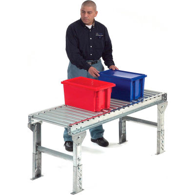 "Omni Metalcraft 1.9"" Dia. Steel Roller Conveyor Straight Section GPHS1.9X16-24-4.5-10-LL"