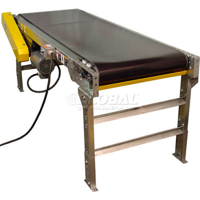 "Omni Metalcraft Powered 24""W x 10'L Belt Conveyor without Side Rails BHSE24-0-12-F60-0-0.5-4"