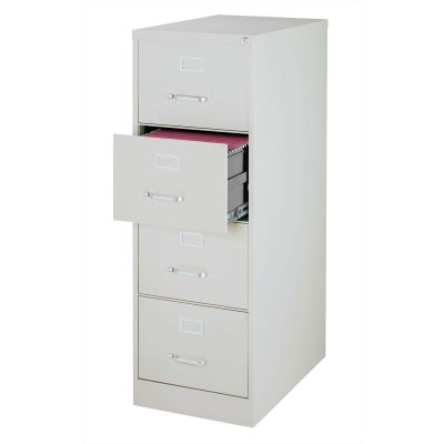 """Hirsh Industries® 26-1/2"""" Deep Vertical File Cabinet 4-Drawer Legal Size - Light Gray"""