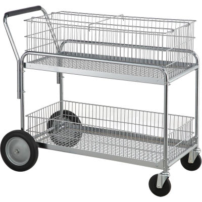 Standard Mail and Office File Cart 200 Lb. Capacity
