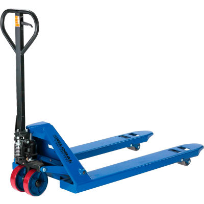 Global Industrial™ Premium Low-Profile Narrow Fork Pallet Jack Truck 4500 Lb. Cap. 21x42 Forks