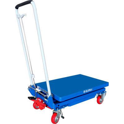 Global Industrial™ Mobile Scissor Lift Table Folding Handle 330 Lb. Capacity - 27 x 17 Platform