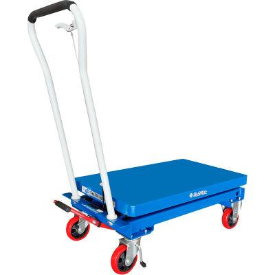 Global Industrial™ Mobile Scissor Lift Table 1650 Lb. Cap. - Single Scissor - 39 x 20 Platform