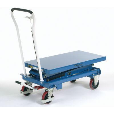 Global Industrial™ Mobile Scissor Lift Table 660 Lb. Cap. - Double Scissor - 39 x 20 Platform