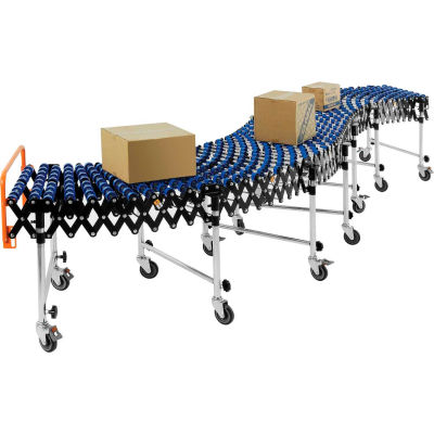 "Global Industrial™ Portable, Flexible & Expandable Conveyor W/ Skate Wheels, Expands 6'2""-24'8"""