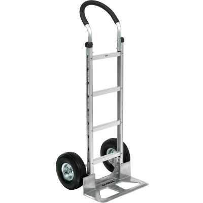 Global Industrial™ Aluminum Hand Truck - Curved Handle - Pneumatic Wheels