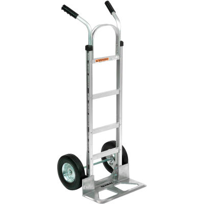 Global Industrial™ Aluminum Hand Truck - Double Handle - Semi-Pneumatic Wheels