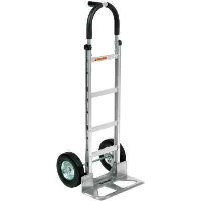 Global Industrial™ Aluminum Hand Truck - Pin Handle - Semi-Pneumatic Wheels