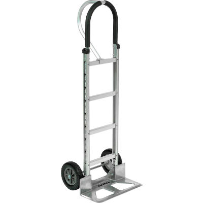 Global Industrial™ Aluminum Hand Truck - Loop Handle - Mold-On Rubber Wheels