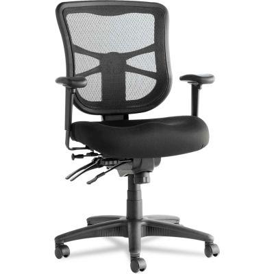 Alera® Multifunction Mesh Chair - Fabric - Mid Back - Black - Elusion Series