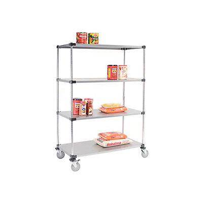 Nexel® Galvanized Shelf Truck 48x18x80 1200 Pound Capacity With Brakes