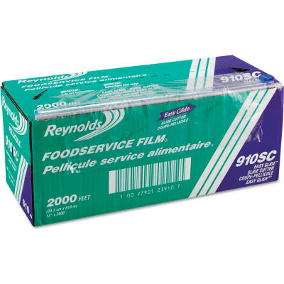 """Reynolds® 12"""" Foodservice Film Roll with Easy Glide Slide Cutter Box"""