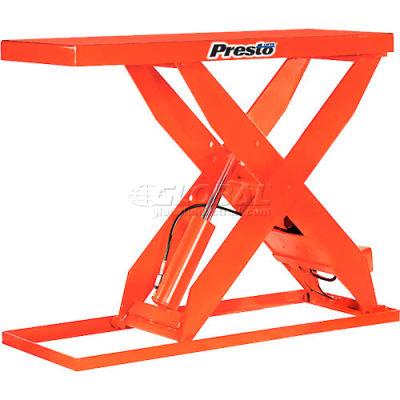 PrestoLifts™ HD Scissor Lift Table XL48-40 64x24 Hand Operated 4000 Lb.