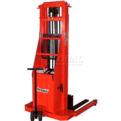 PrestoLifts™ Battery Power Lift Straddle Stacker PSA262 Adj. Legs 2000 Lb.