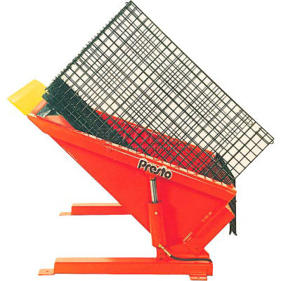 PrestoLifts™ Floor Level Powered Tilt Table TZ50-40H Hand Control 4000 Lb.