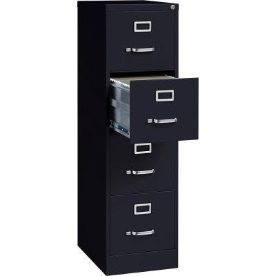 "Hirsh Industries® 22"" Deep Vertical File Cabinet 4-Drawer Letter Size Black"
