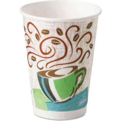 Dixie® PerfecTouch® Hot Cups, 12 oz., Coffee Dreams Design, 1000 ct