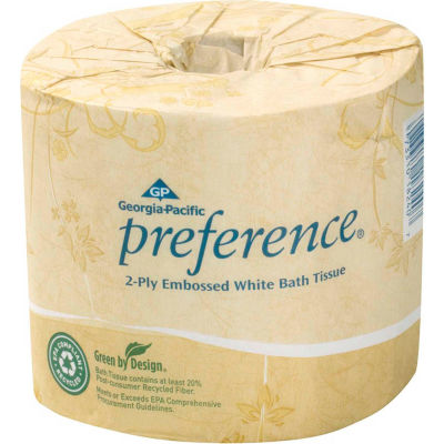 GP Preference White 2-Ply Embossed Bathroom Tissue, 550 Sheets/Roll, 80 Rolls/Case - 18280/01