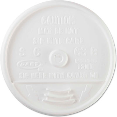 Dart®DCC12UL, Plastic Lids for Hot/Cold Foam Cups, White, 1000/Carton