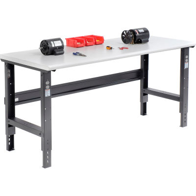 Global Industrial™ 72x30 Adjustable Height Workbench C-Channel Leg - Laminate Safety Edge Black