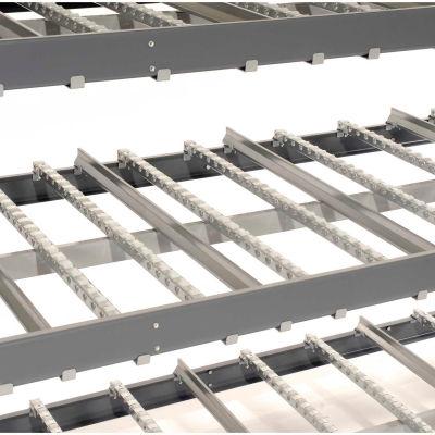 "Global Industrial™ Carton Flow Shelving Double Depth 4 LEVEL 96""W x 96""D x 84""H"