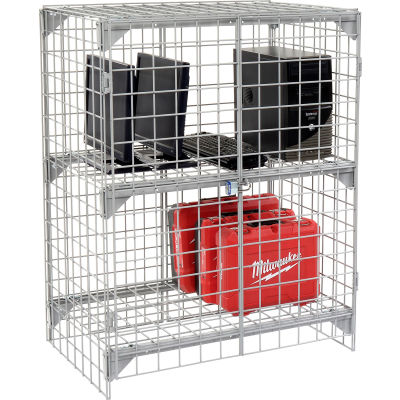 Global Industrial™ Wire Mesh Security Cage - Ventilated Locker - 36 x 24 x 36
