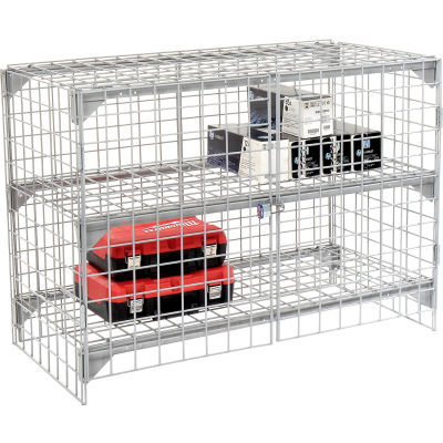 Global Industrial™ Wire Mesh Security Cage - Ventilated Locker - 48 x 24 x 36