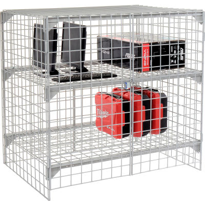Global Industrial™ Wire Mesh Security Cage - Ventilated Locker - 48 x 36 x 48