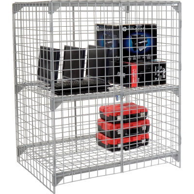 Global Industrial™ Wire Mesh Security Cage - Ventilated Locker - 48 x 24 x 60