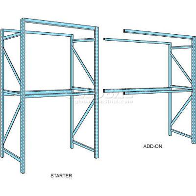 """Husky Rack & Wire Teardrop Pallet Rack Add-On - No Deck - 120""""W x 42""""D x 144""""H"""