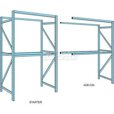 "Husky Rack & Wire Teardrop Pallet Rack Add-On With Wire Deck - 96""W x 42""D x 144""H"