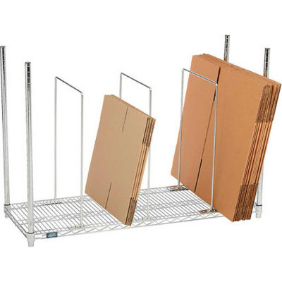 Global Industrial™ Single Level Carton Stand with 3 Dividers