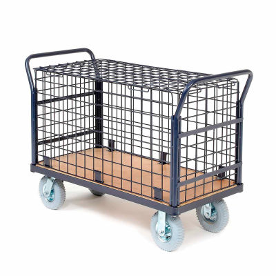 Global Industrial™ Euro Wire Security Truck 60 x 30 1200 Lb. Capacity