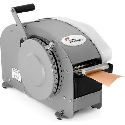 "Better Packages Manual Kraft Tape Dispenser BP333 Plus with Heater 1-1/2"" - 3"" Width Tape"