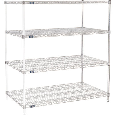 "Nexel® Chrome Wire Shelving Add-On - 48""W x 30""D x 63""H"
