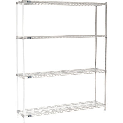 "Nexel® Chrome Wire Shelving Add-On - 60""W x 14""D x 86""H"