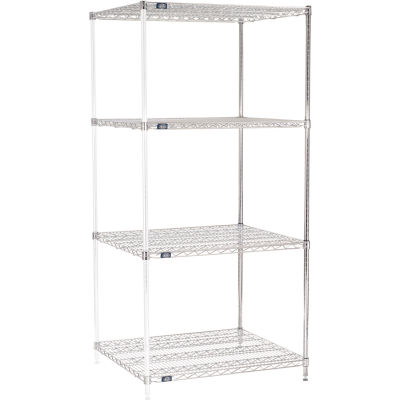 "Nexel® Chrome Wire Shelving Add-On - 36""W x 30""D x 74""H"