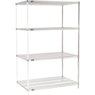 "Nexel® Chrome Wire Shelving Add-On - 48""W x 30""D x 74""H"