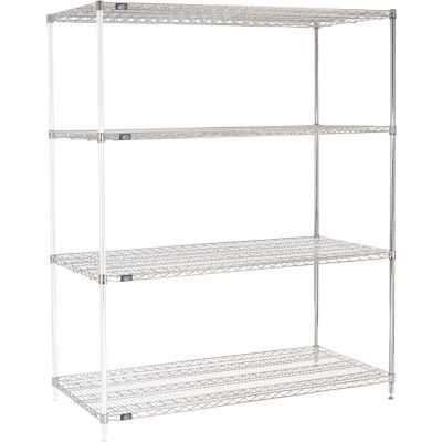 "Nexel® Chrome Wire Shelving Add-On - 72""W x 30""D x 74""H"