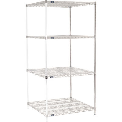 "Nexel® Chrome Wire Shelving Add-On - 36""W x 36""D x 74""H"