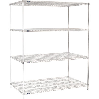 "Nexel® Chrome Wire Shelving Add-On - 72""W x 36""D x 74""H"