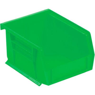 "Akro-Mils® AkroBin® Plastic Stack & Hang Bin, 4-1/8""W x 5-3/8""D x 3""H, Green - Pkg Qty 24"