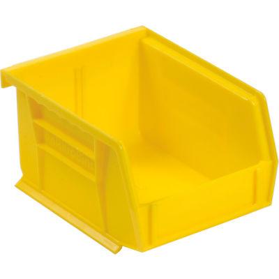 "Akro-Mils® AkroBin® Plastic Stacking Bin, 4-1/8""W x 5-3/8""D x 3""H, Yellow - Pkg Qty 24"