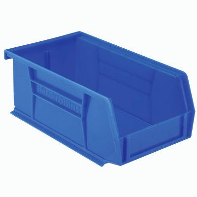 "Akro-Mils® AkroBin® Plastic Stack & Hang Bin, 4-1/8""W x 7-3/8""D x 3""H, Blue - Pkg Qty 24"